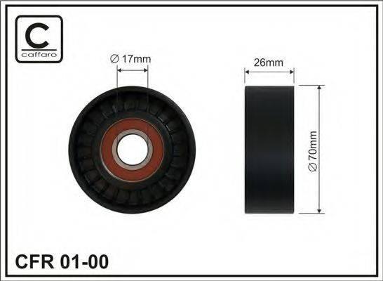 Натяжной ролик, поликлиновой  ремень CAFFARO 01-00