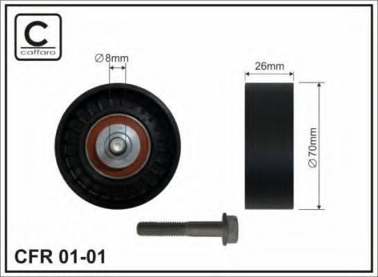 Паразитный / ведущий ролик, поликлиновой ремень CAFFARO 01-01