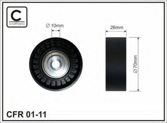 Паразитный / ведущий ролик, поликлиновой ремень CAFFARO 01-11