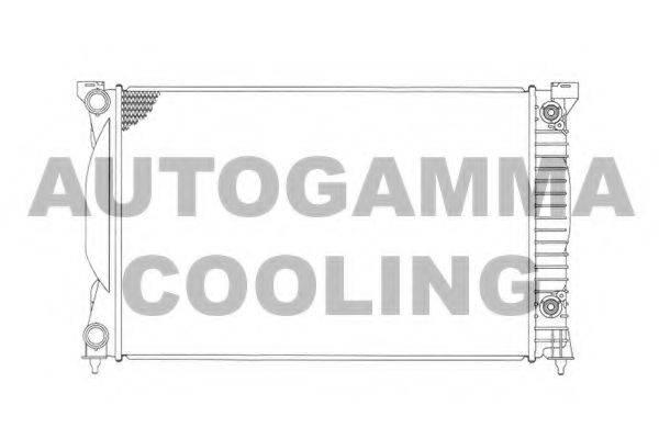 AUTOGAMMA 103372 Радиатор, охлаждение двигателя