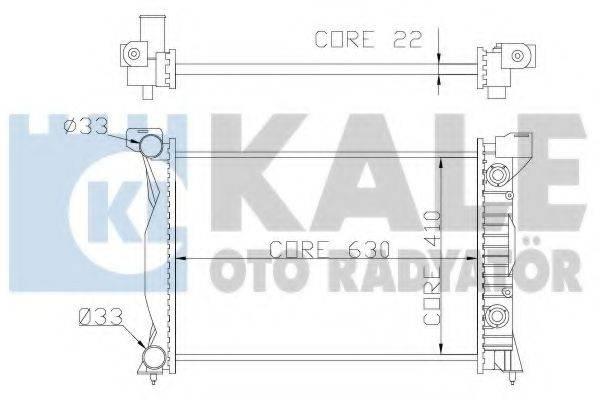 KALE OTO RADYATOR 352900 Радиатор, охлаждение двигателя