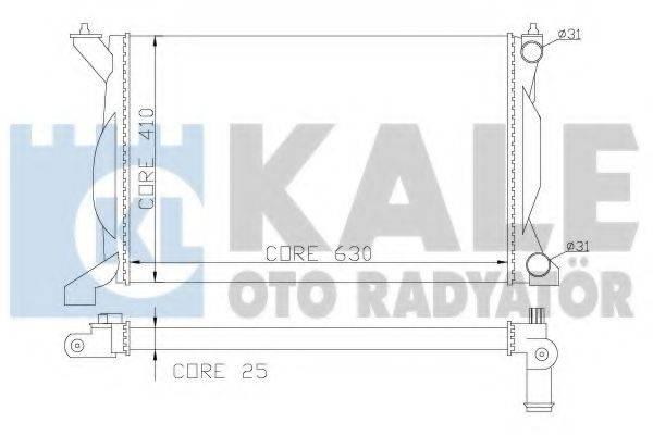 KALE OTO RADYATOR 353700 Радиатор, охлаждение двигателя