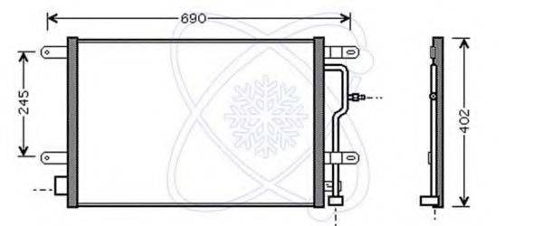 ELECTRO AUTO 30B0050 Конденсатор, кондиционер