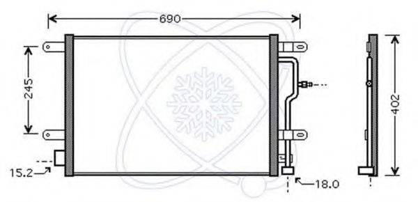 ELECTRO AUTO 30B0051 Конденсатор, кондиционер