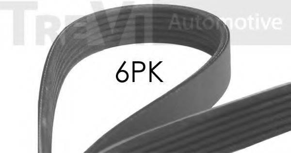 TREVI AUTOMOTIVE 6PK1572 Поликлиновой ремень