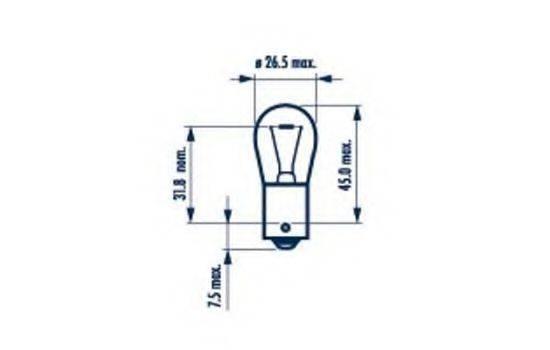 NARVA 17638 Лампа накаливания, фонарь указателя поворота; Лампа накаливания, фонарь указателя поворота