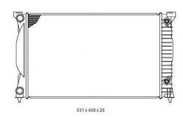 ORDONEZ 2065060 Радиатор, охлаждение двигателя