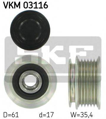 SKF VKM03116 Механизм свободного хода генератора