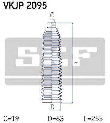 SKF VKJP2095 Комплект пылника, рулевое управление