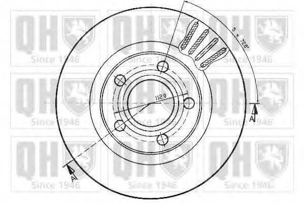 QUINTON HAZELL BDC4752 Тормозной диск