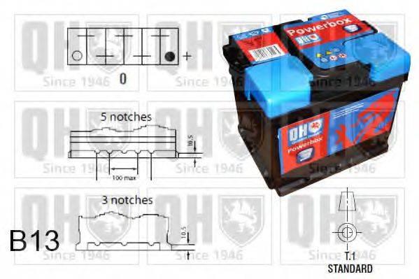 QUINTON HAZELL QBT0203 Стартерная аккумуляторная батарея