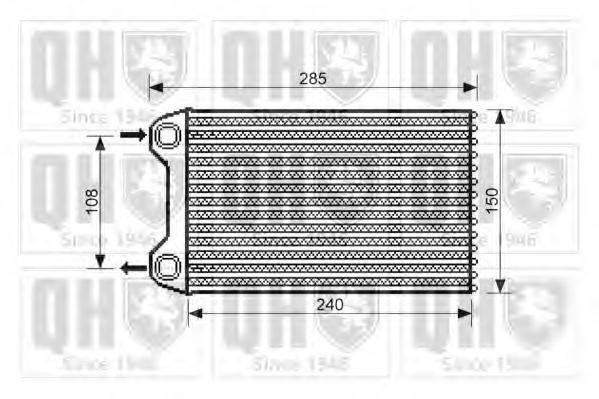 QUINTON HAZELL QHR2193 Теплообменник, отопление салона