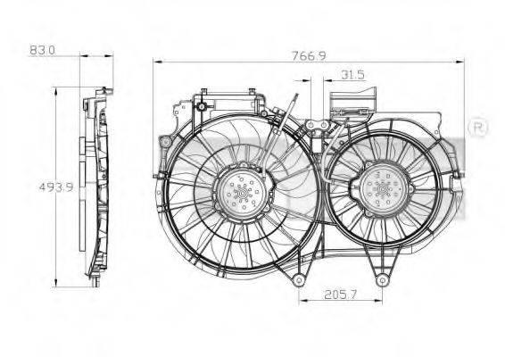 TYC 8020053 Вентилятор, охлаждение двигателя