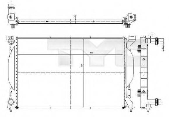 TYC 7020012 Радиатор, охлаждение двигателя