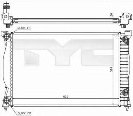 TYC 7020014 Радиатор, охлаждение двигателя