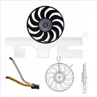 TYC 8020051 Вентилятор, охлаждение двигателя