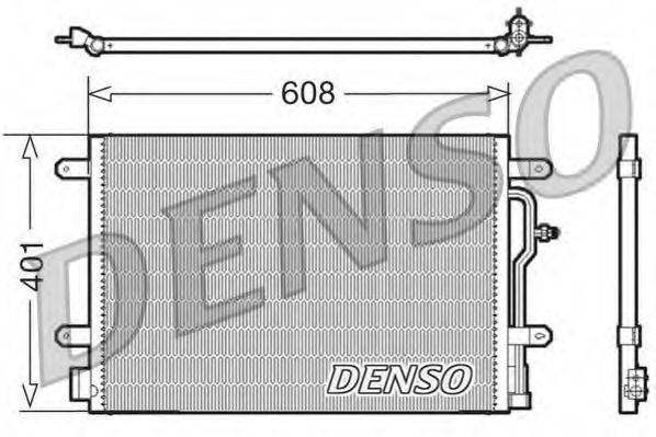 DENSO DCN02011 Конденсатор, кондиционер