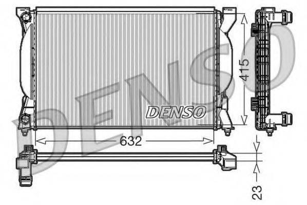 DENSO DRM02035 Радиатор, охлаждение двигателя