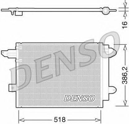DENSO DCN02005 Конденсатор, кондиционер