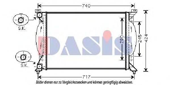 AKS DASIS 480029N Радиатор, охлаждение двигателя