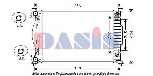 AKS DASIS 480036N Радиатор, охлаждение двигателя