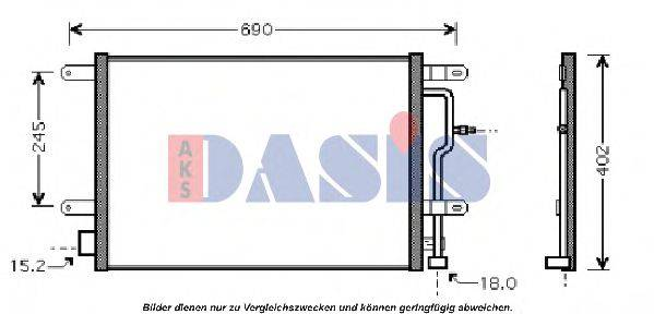 AKS DASIS 482001N Конденсатор, кондиционер