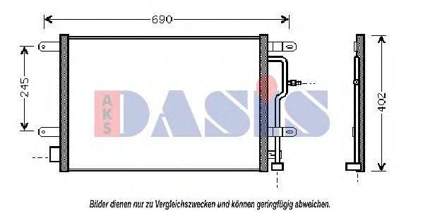 AKS DASIS 482300N Конденсатор, кондиционер