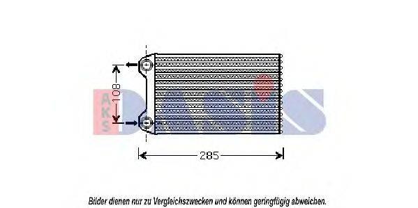 AKS DASIS 489006N Теплообменник, отопление салона