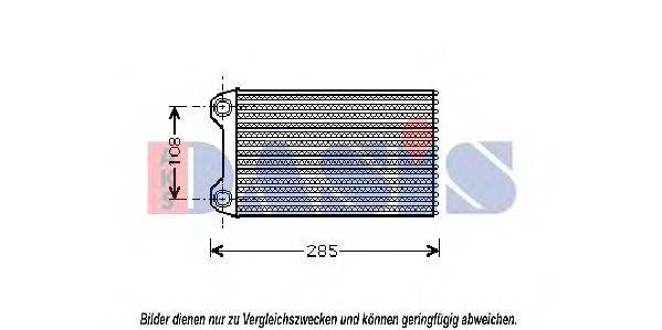 AKS DASIS 489007N Теплообменник, отопление салона