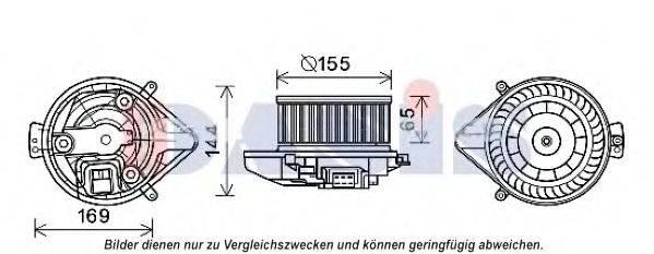 AKS DASIS 730004N Вентилятор салона