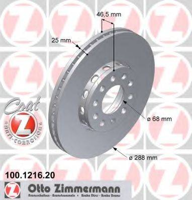 ZIMMERMANN 100121620 Тормозной диск