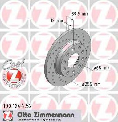 ZIMMERMANN 100124452 Тормозной диск