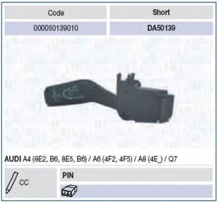 MAGNETI MARELLI 000050139010 Выключатель на колонке рулевого управления