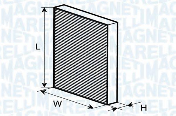 MAGNETI MARELLI 350203061830 Фильтр, воздух во внутренном пространстве
