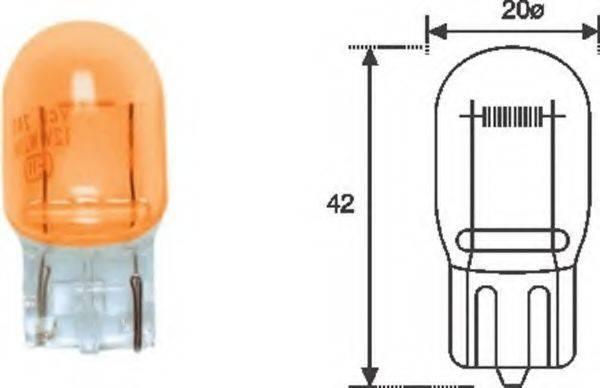 Лампа накаливания, фонарь указателя поворота; Лампа накаливания MAGNETI MARELLI 002052300000